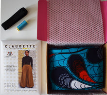 *Claudette Trousers Sewing Kit* African Wax Print Dressmaking Kit Crafts Stitching Gifts for Her