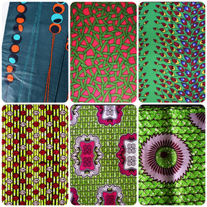 Fat Quarter Bundle Green Coloured Bundle Six Fat Quarters African Print Wax Fabric 100% cotton Quilting Ankara Patterned by Dovetailed