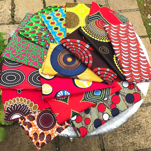 Fat Quarters (Sold as singles) Various Colours African Print Wax Block Fabric 100% cotton Quilting Ankara Patterned by Dovetailed £1.60 - £3.00 per FQ