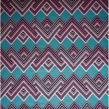 'FASHIONABLY LATE (on pink)' African Wax Block Print Fabric Sold by the yard 100% cotton by Dovetailed