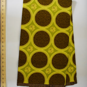 African Print Wax Block Fabric Sold by the yard 100% cotton Brown and Khaki Ankara by Dovetailed