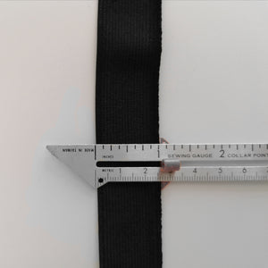 25 mm 1 inch wide WHITE BLACK woven elastic flat elastic stretch elastic waistband headband sewing supply scrubs Dovetailed