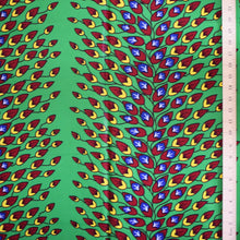 African Print Wax Block Fabric Sold by the yard 100% cotton Green red yellow coloured fabric Ankara fabric African fashion Craft & Supplies by Dovetailed