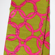 OLYMPUS African Print Wax Block Fabric Sold by the yard 100% cotton Pink Yellow Ankara Patterned by Dovetailed