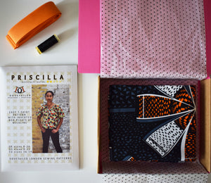 *Priscilla Top Sewing Kit* African Wax Print Dressmaking Kit Crafts Stitching Gifts for Her