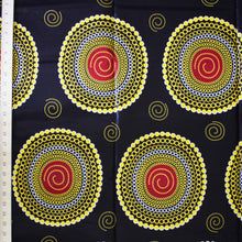 African Print Wax Block Fabric Sold by the yard 100% cotton Gold Maroon Dark Brown Ankara by Dovetailed