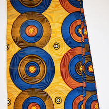 RECORDS ON YELLOW African Print Wax Block Fabric Sold by the yard 100% cotton Yellow blue coloured fabric Ankara fabric African fashion Craft & Supplies by Dovetailed
