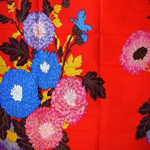 RED FLOWER GARDEN African Print Wax Block Fabric Sold by yard 100% cotton Ankara by Dovetailed