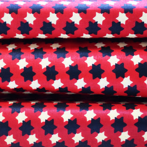 STARS IN DIAMONDS African Wax Print Block Ankara Fabric Sold by the yard 100% cotton by Dovetailed