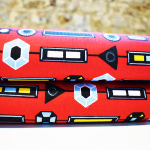 African Print Wax Block Fabric Sold by yard 100% cotton Red, blue and  yellow Ankara by Dovetailed