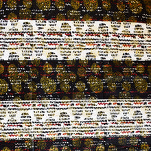 SPARKLES AND STRIPES African Print Wax Block Fabric Sold by the yard 100% cotton Black White Red Gold Ankara by Dovetailed