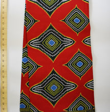African Print Wax Block Fabric Sold by the yard 100% cotton Red white brown yellow blue Ankara by Dovetailed