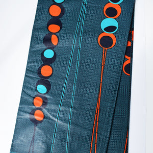 TRAFFIC LIGHTS African Print Wax Block Fabric Sold by the yard 100% cotton Blue Orange Ankara Patterned by Dovetailed