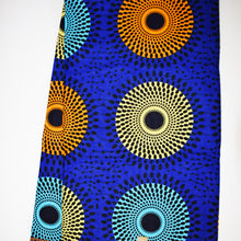 'DROP A PEBBLE IN THE WATER' African Wax Print Fabric Sold by the yard 100% cotton Ankara Patterned by Dovetailed