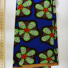 African Print Wax Block Fabric Sold by the yard 100% cotton Dark Brown Blue Green Red Ankara by Dovetailed