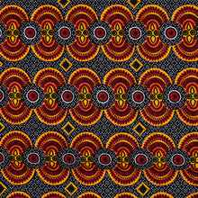 African Print Wax Block Fabric Sold by the yard 100% cotton Yellow, red, white and black coloured fabric Ankara fabric African fashion Patterned fabric Craft & Supplies by Dovetailed