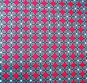'THIS ONE IS FOR THE DREAMERS' (on pink) African Wax Block Print Fabric Sold by the yard 100% cotton by Dovetailed