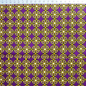 'THIS ONE IS FOR THE DREAMERS' (on purple) African Wax Block Print Fabric Sold by the yard 100% cotton by Dovetailed