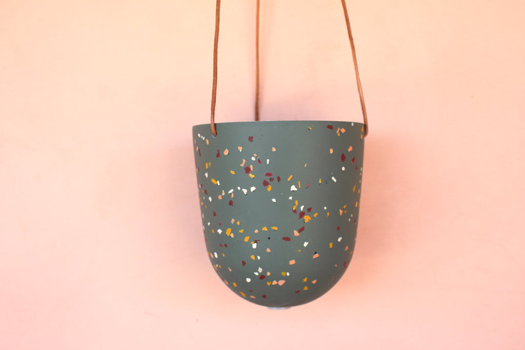 Capra Teal Hanging Pot