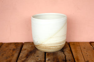 Stone & Sage Marbled Pot