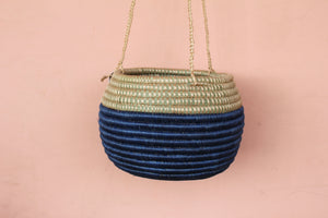 Amsha Hanging Basket / Blue Sweetgrass