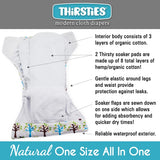 Thirsties Natural Newborn All In One-Hook & Loop