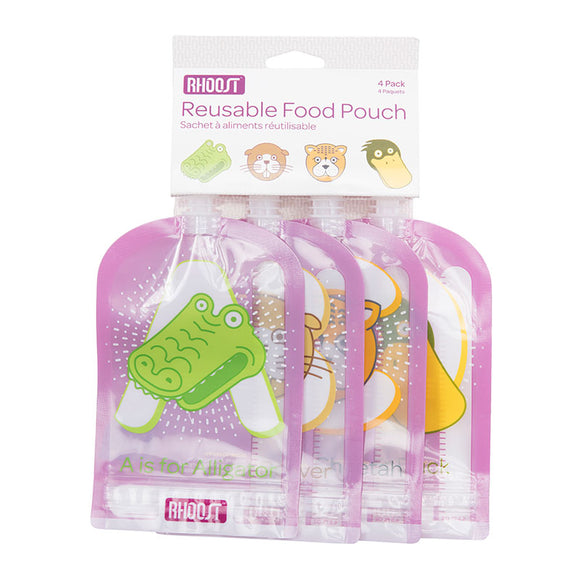 Rhoost Reusable Food Pouch 4 Pack