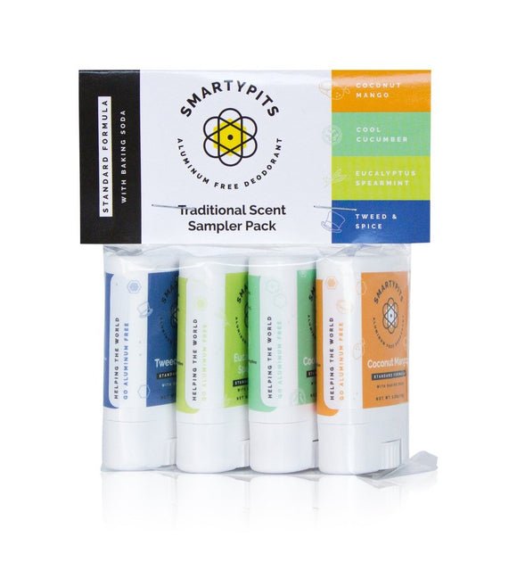 Handcrafted Honeybee SmartyPits Mini Deodorant Sampler Pack
