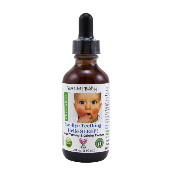 BALM BABY BYE BYE TEETHING HELLO SLEEP! NATURAL TEETHING TINCTURE - 2OZ.