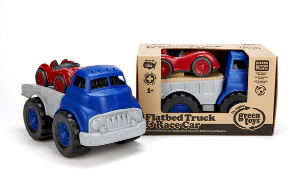 Green Toys Flatbed Truck & Race Car