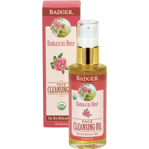 Badger Damascus Rose Face Cleansing Oil