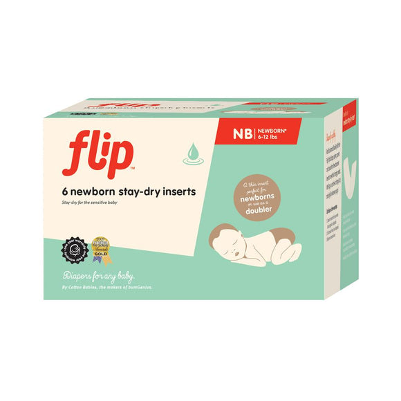 Flip Diapers Stay-Dry Newborn Inserts 6-Pack