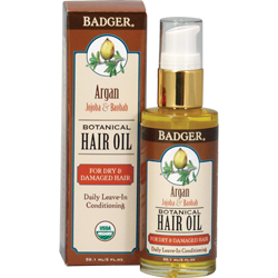 Badger Argan Hair Oil for Dry Damaged Hair