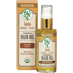 Badger Jojoba Hair Oil for Dry Scalp