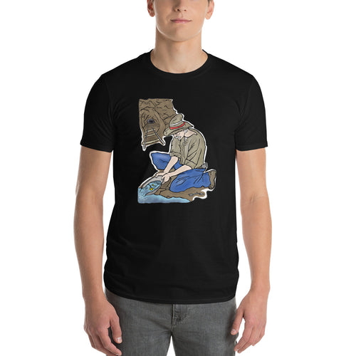 Abstract Gold Miner Short-Sleeve T-Shirt