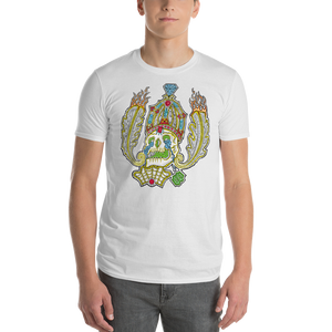 Short-Sleeve Skull & Crown  T-Shirt