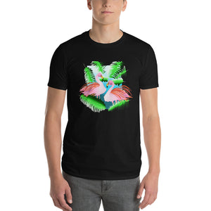 Flamingos in the Jungle  Short-Sleeve T-Shirt