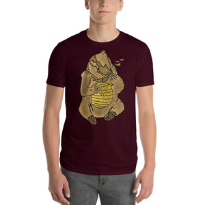 Bears Hand in Honey Comb Short-Sleeve T-Shirt
