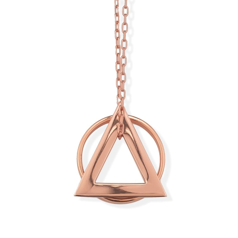 DELTAGLYPH AND RING OF FIRE PENDANT -  Rose Gold