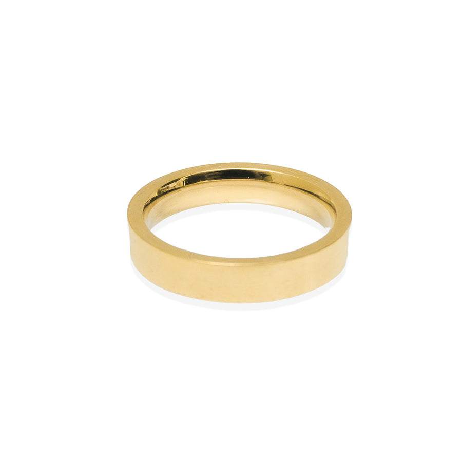90s Band Ring - Gold