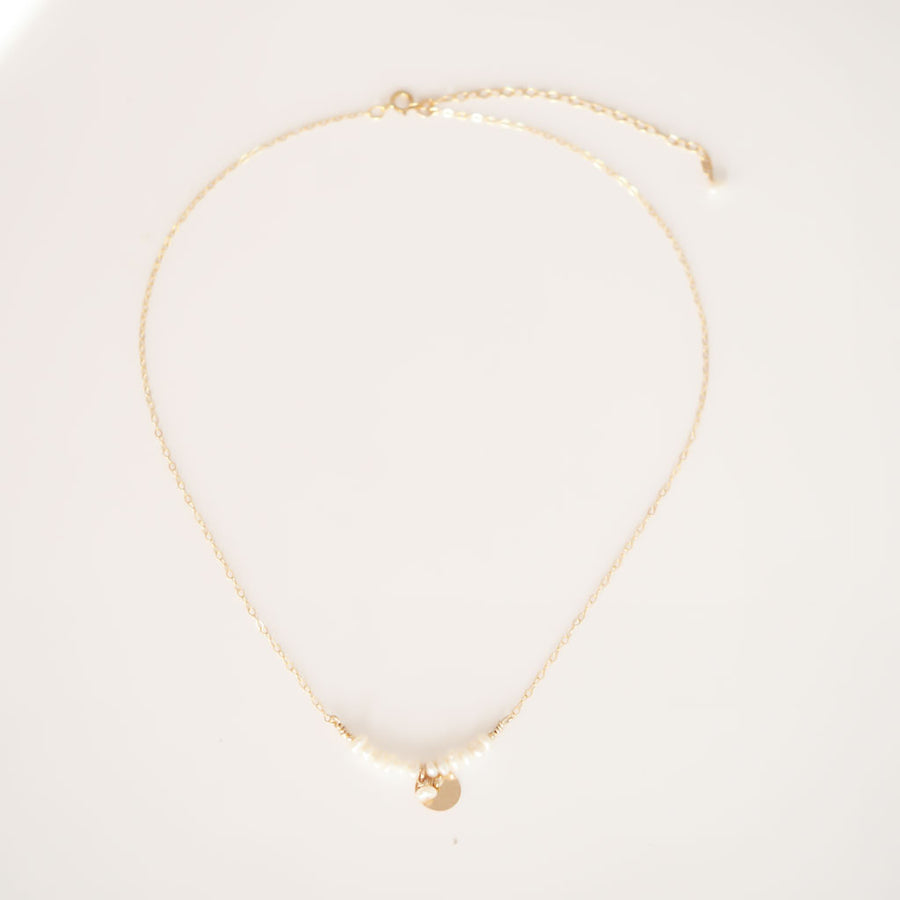 The Aura Necklace - Gold and Pearl