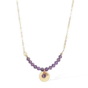 The Aura Necklace - Gold and Amethyst