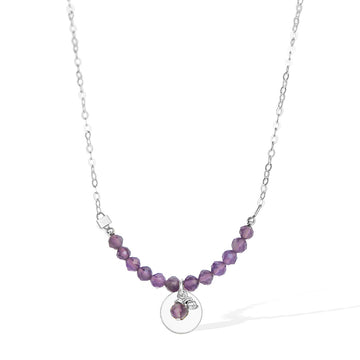 The Aura Necklace - Silver and Amethyst