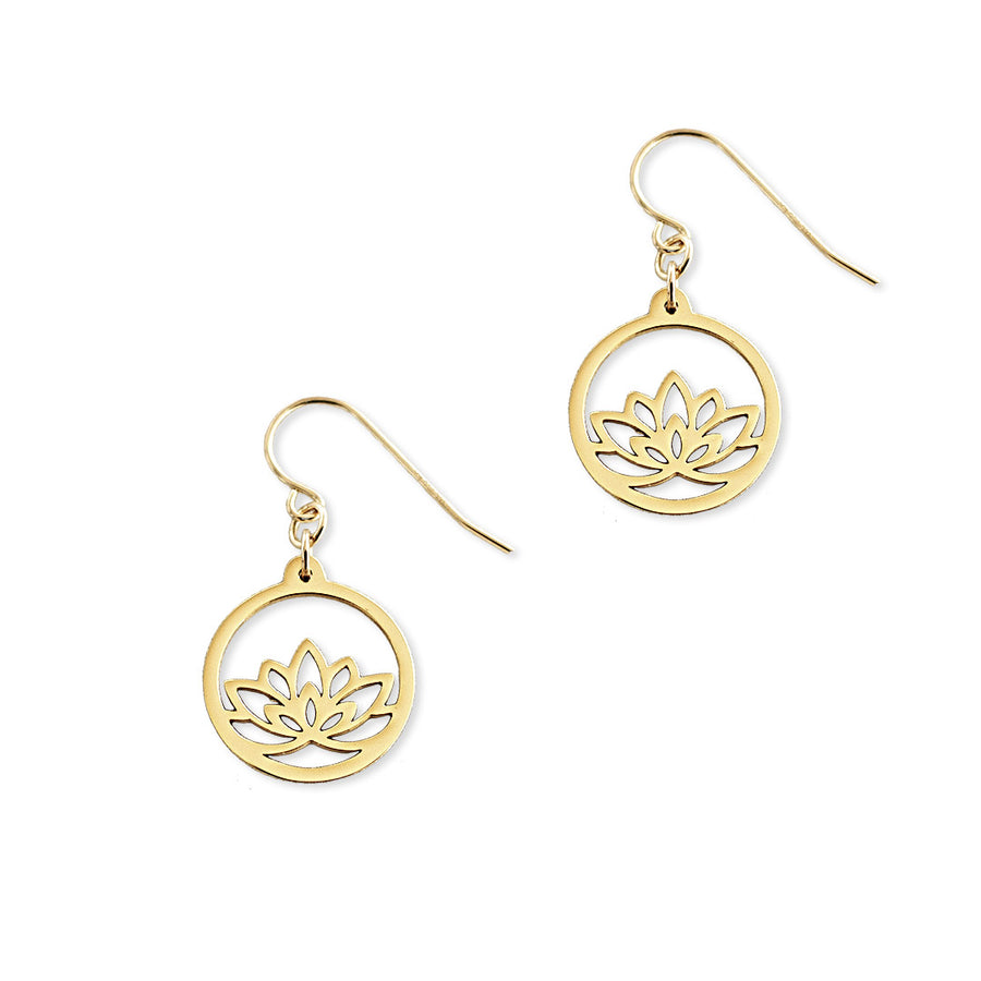 Baby Lotus Earrings - Gold