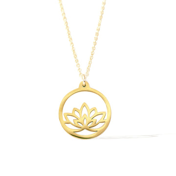 Baby Lotus Necklace - Gold