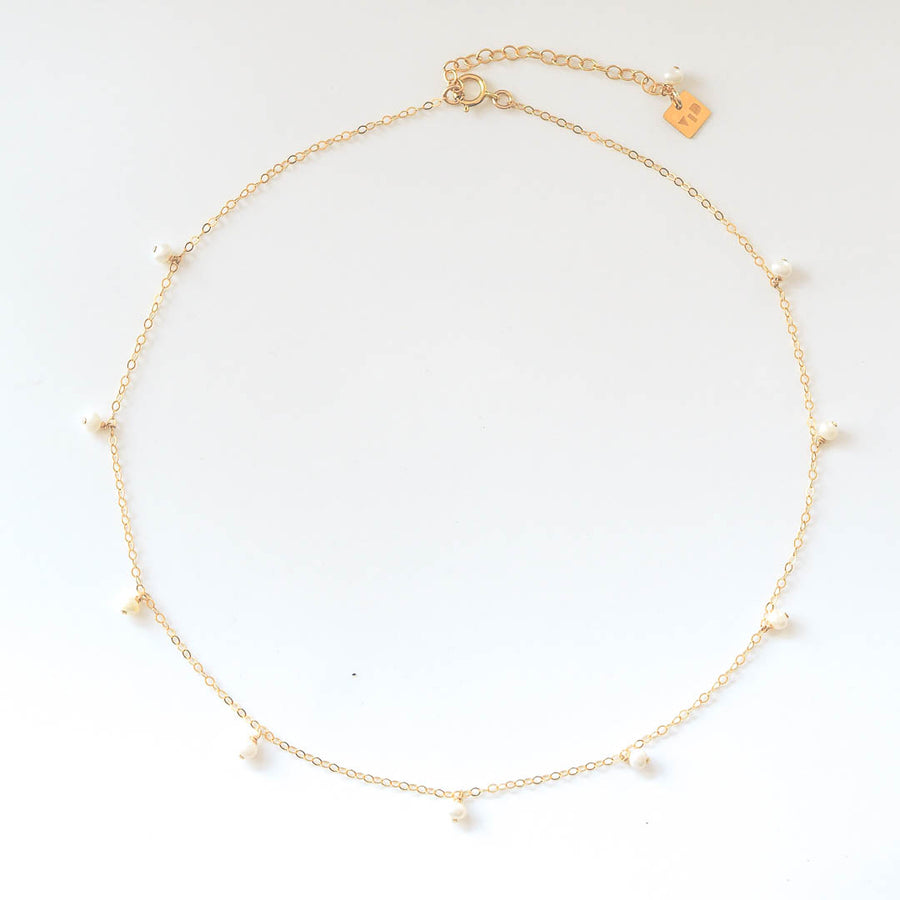 Charmed Prue Necklace gold and Pearl top view