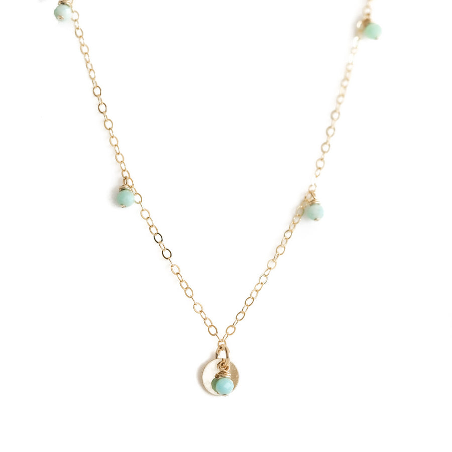 Charmed Necklace - Gold and Amazonite
