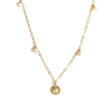 Charmed Necklace - Gold and Pearl