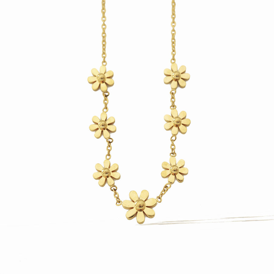 Daisy 7 Choker Necklace – Gold