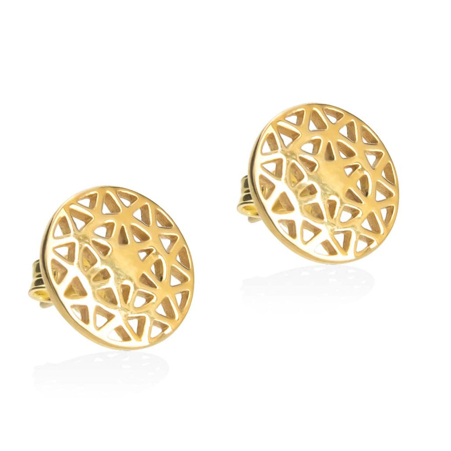 Dandelion-stud-earrings-gold